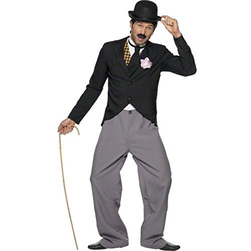 NET TOYS 20er 30er Jahre Charlie Chaplin Kostüm Filmstar schwarz M 48/50 Komiker Clown Bekleidung Starkostüm Outfit Herrenkostüm Fasching