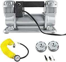 TYRAREX 12V DC Portable Air Compressor for Vehicles, 150-200 PSI Heavy Duty Air Pump with 2 Battery Clamps & 16.4ft Air Hose
