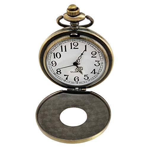 Reloj de Bolsillo Vintage Personalizado Diseño Hueco con Cadena Grabado en el Interior Estuche para Hombre Reloj para Mujer Cumpleaños de Navidad Aniversario Regalos del día del Padre