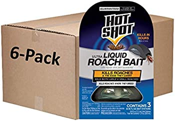 18-Count (6-pack of 3-count boxes) of Hot Shot Ultra Liquid Roach Bait