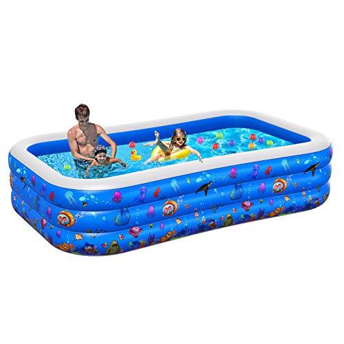 Inflatable Pool for Kids, 2021NEW Plastic Kiddie Pool,...