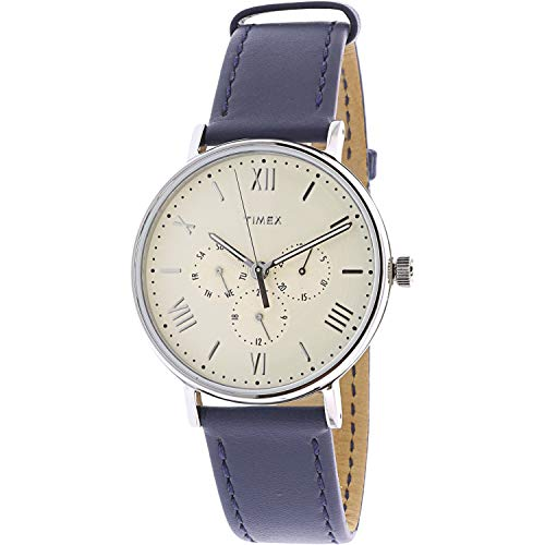 Timex Men's Southview TW2R29200 Silver Leather Japanese Quartz Dress Watch