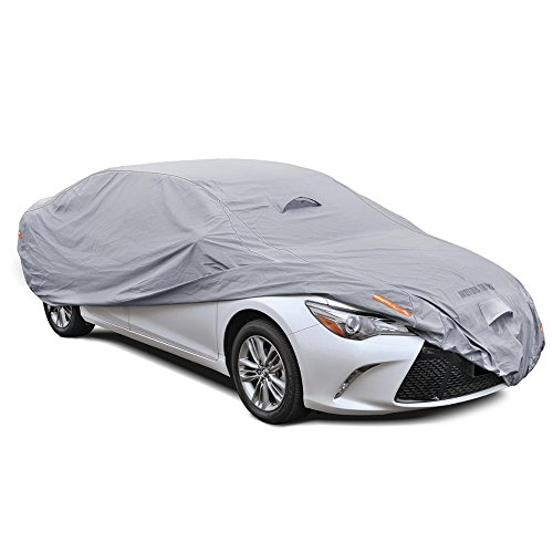 Motor Trend OC-643 TrueShield Waterproof Car Cover - Heavy Duty Outdoor Fleece-Lined Sonic Coating - Ultimate 6 Layer Protection (Full Size up to 190' L)