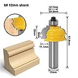 1PC 12MM mango fresa de talla de madera de arquitectura de bits de moldeo Pasamanos router configurado Carcasa Base CNC de la carpintería cortador (Size : 08)