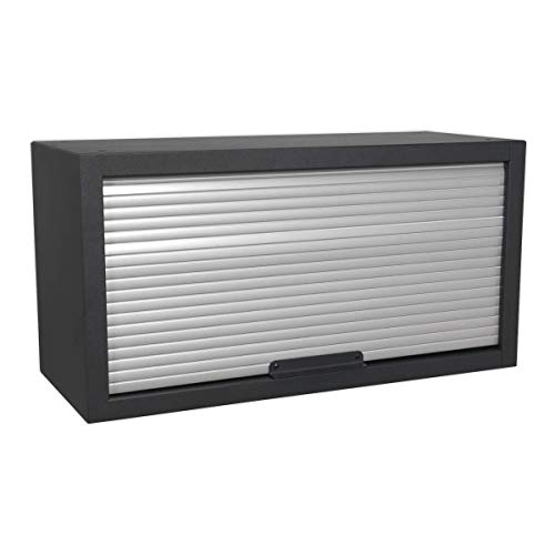 Sealey Armario de Pared Modular Frontal Tambour, Negro, 680 mm