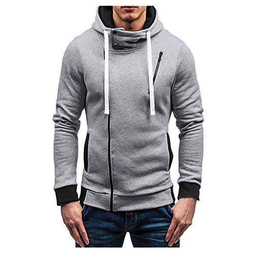 Komise Herren Herbst Winter Zipper Sportswear Patchwork Pullover Langarm Bluse