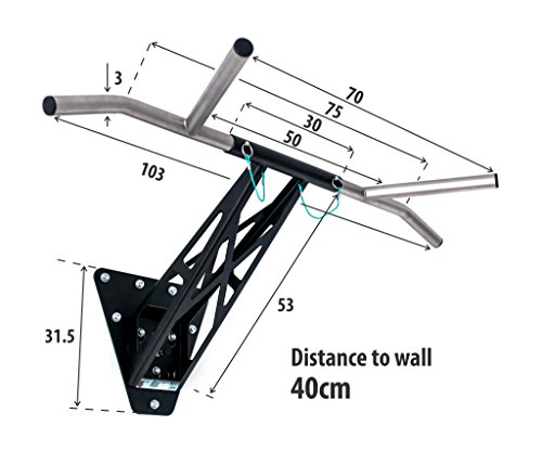 PULLUP-DIP-Indoor-Outdoor-Pull-Up-Dip-Bar-Portable-Pull-Up-and-Dip-bar-Wall-Mounted-and-Outdoor-for-TreePost-Unique-Premium-Quality-Mobile-Chin-Up-and-Dip-bar-Over-30-Exercises