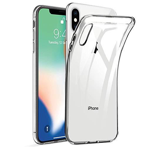 Amonke Funda iPhone X, Funda iPhone XS - Silicona Transparente TPU Carcasa,...