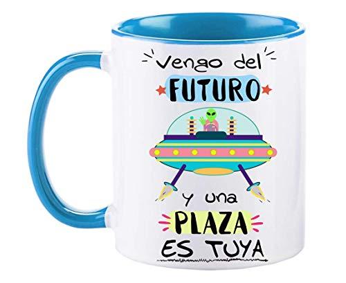 FUNNY CUP Taza Opositor. Vengo del Futuro y una Plaza es Tuya....