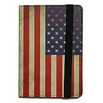 iPad mini2・3 アップル アイパッド ミニ2・3 ケース  スマートカバー 高品質PU使用 スタンド機能 星条旗 case for iPad mini2/3  stand-design (the Stars and Stripes)