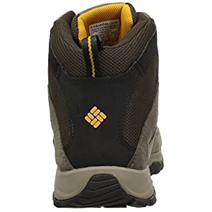 Columbia Men's Crestwood Mid Waterproof Hiking Boot, Breathable, High-Traction Grip, 15 Wide US, cordovan, squash