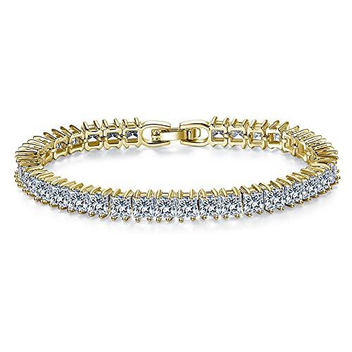 1 pieza pulseras para mujer cuadrado circón incrustado pulsera moda minimalista joyería oro