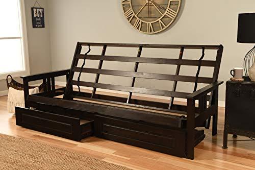 Kodiak Furniture Monterey Queen-size Futon Frame, Storage Drawers, Espresso Finish
