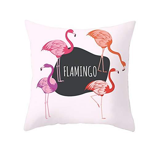Fundas de Cojines Flamenco Rosa Rojo Terciopelo Suave Cuadrado Decorativa Almohadas Funda de Almohada para Cojín para Sofá Camas Dormitorio Coche Sillas Throw Pillow Case V5480 Pillowcase,60X60cm