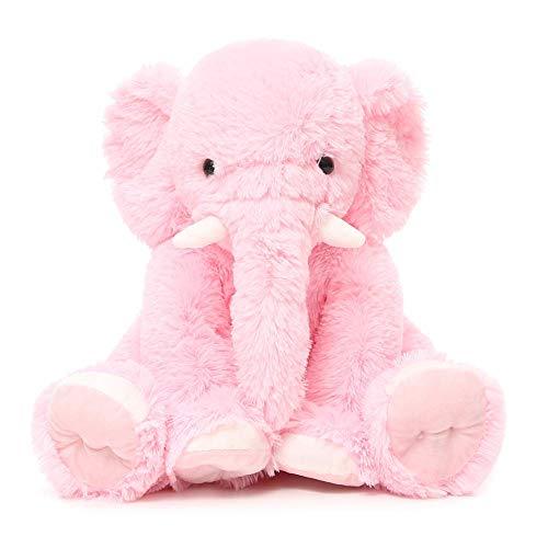 Beofine Kinder Elefant Plüsch Puppe, 19,6 Zoll Stuffed Elephant Tier Weiche Riesen Elefant Plüsch-Geschenk-Rosa Elefant Stofftier Plüschtier Baby Spielzeug und Plüschtier Pink