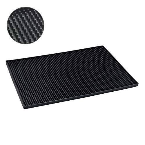 Wenko Maxi Esterilla para Escurrir, Elastómero Termoplástico, Negro, 30x40x3 cm
