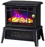Calentador eléctrico de la estufa del ventilador, efecto realista 3D Flame Effect Power 1500W Protección de sobrecalentamiento Pequeño calentador de espacio, estufa de chimenea eléctrica Freestanding