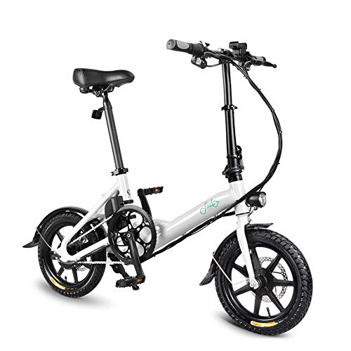 FIIDO D3s Folding EBike, 250W Aluminum Electric Bicycle with Pedal for Adults and Teens, 16'...