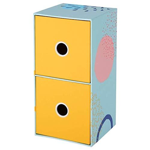 IKEA Lankmoj Mini-Kommode mit 2 Schubladen, mehrfarbig, 404.340.44