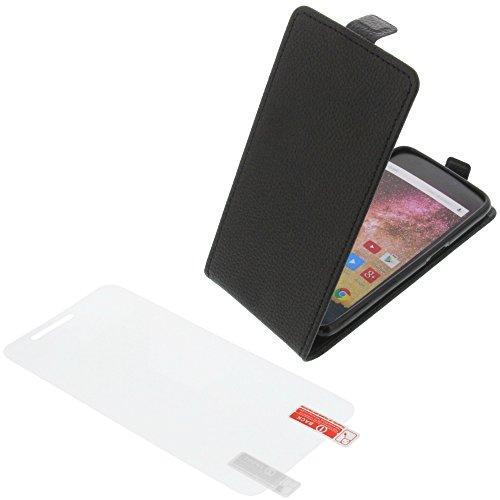 foto-kontor Tasche für Archos 50 Power Smartphone Flipstyle Schutz Hülle schwarz + Schutzfolie