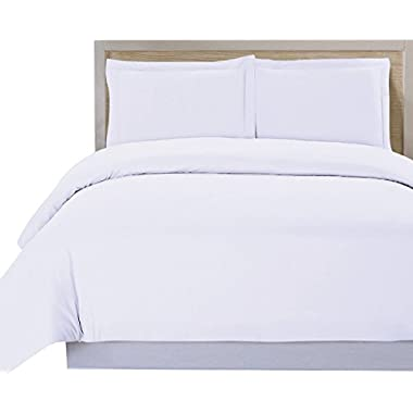 Utopia Bedding 3 Piece Duvet Cover Set (Queen, White) Duvet Cover plus 2 Pillow Shams - Luxury Soft Hotel Quality Wrinkle, Fade, Stain Resistant and Anti-allergic
