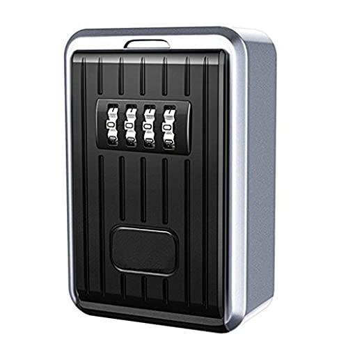 JJZXT Caja de Claves de contraseña Tecla al Aire Libre Caja de Bloqueo Segura Caja de Bloqueo Caja de Llavero Caja de Bloqueo Caja de Bloqueo Caja de contraseña montada en la Pared
