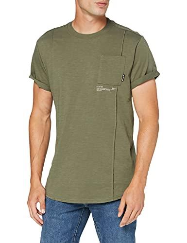 G-STAR RAW D19897 Camiseta, Dk Shamrock C372-7159, L para Hombre