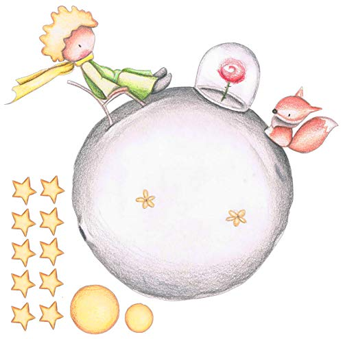 Vinilo Decorativo Infantil de Pared El Principito con Efecto Lapiz – Autoadhesivo de fácil colocación – Habitación Infantil - 59x60