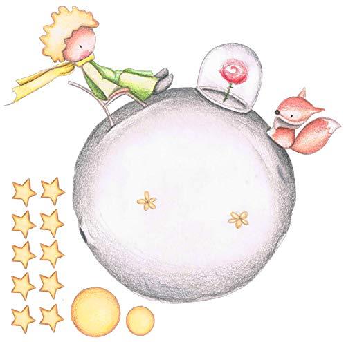 Vinilo Decorativo Infantil de Pared El Principito con Efecto Lapiz – Autoadhesivo de fácil colocación – Habitación Infantil – 88x90 (90, 88)