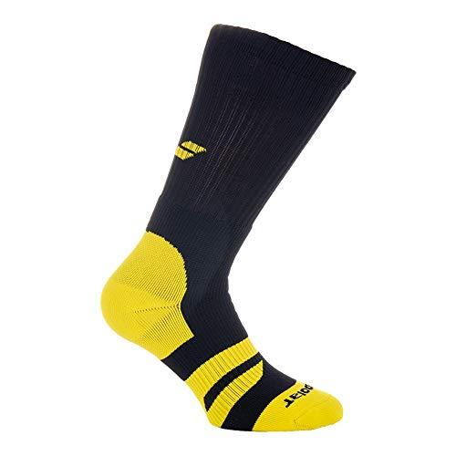 Babolat, Team Big Logo Tennissocken 1er Pack-Schwarz, Zitronengelb, Socken, 47-50