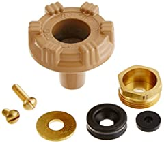 """Parts to repair model 14/18 outside faucet Kit includes: handle screw, metal wheel handle,packing nut, EPDM packing, packing support washer, valve seat rubber and retainer screw 3/4"""" male hose thread nozzle Stainless steel seat - eliminates wire draw..."""