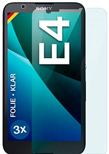 moex Protector de pantalla transparente compatible con Sony Xperia E4 – Protector de pantalla transparente, protector de pantalla HD, fino y resistente a los arañazos, 3 unidades