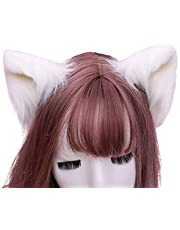 geneic 1 Paar Zoete Mooie Harige Dier Beest Oren Haarspeldjes Anime Lolita Wolf Kat Cosplay Pluche Haarspelden Halloween Party Kostuum Accessoires