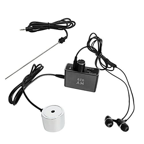 Staright Detector de fugas de tubería de agua Sensor Kit de probador de monitor de fugas de tubería de agua con sondas dobles Auricular Kit de accesorios de localizador de tubería de agua de alta sens
