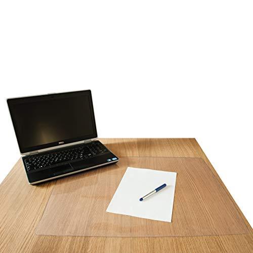 D.RECT Sous-main Transparent 70 x 50 cm en PVC Antidérapant Épaisseur 600 µ Bords Ronds Étanche Desk Mat pour Bureau et Maison