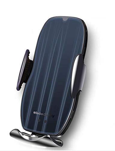 Cargador Inalámbico Coche Qi 15W Rápida Carga Sensor Infrarrojo Soporte Móvil con Cargador De Teléfono Móvil con Sensor Inteligente para Coche (Black)