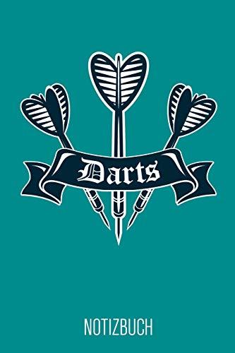 Darts Notizbuch: Türkises Punktraster Dart Notizheft für Dartspieler ca DIN A5 weiß punktiert 110 Seiten