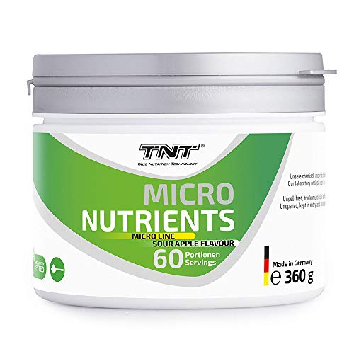 Multivitamin Pulver hochdosiert mit 24 Vitaminen & Mineralien - Superfood Vitamin-Komplex / 360g SOUR APPLE