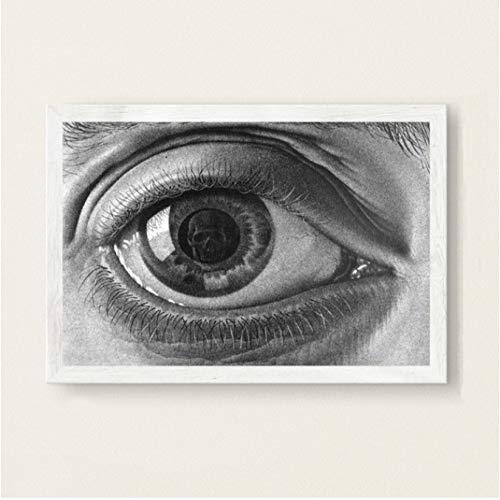 nobrand Escher Surreale Grafica Geometrica Moderna Arte Astratta Pittura Seta su Tela Poster da Parete Decorazioni per La Casa 50 * 70 Cm Senza Cornice