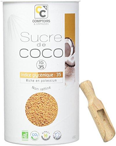 COMPTOIRS ET COMPAGNIES Boîte Sucre de Fleurs de Noix Coco Bio 400 g