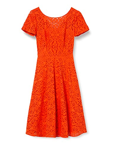ESPRIT Collection Damen 040EO1E323 Kleid, 825/RED ORANGE, 40