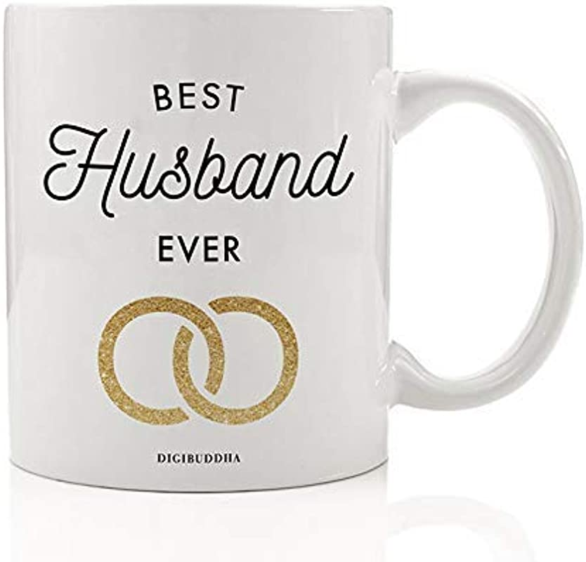 BEST HUSBAND EVER Coffee Mug Gift Idea Newlywed Groom Loving Couple Birthday Anniversary Christmas Present For Spouse Favorite Man Always Life Partner Forever 11oz Ceramic Tea Cup By Digibuddha DM0656