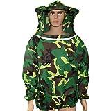 WANZSC Ropa de apicultura tradicional camuflaje apicultura chaqueta de abeja protección ropa ventilada trajes de abeja hombre mujer artículo (03)