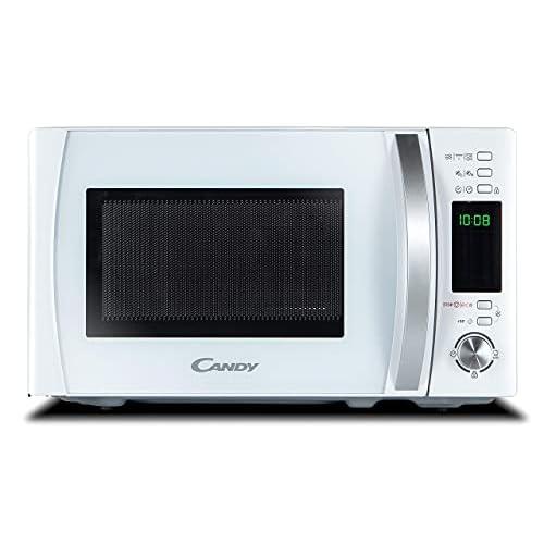 Candy CMXG20DW Forno Microonde con Grill, 20 Litri, 700 W, 5 Livelli di Potenza, 40 Programmi Automatici con App Cook-in, Digitale, Libera Installazione, 44x35.7x25.9 cm, Bianco