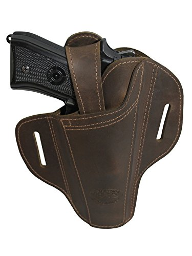 Barsony New Ambidextrous Brown Leather Pancake Holster for EAA Witness