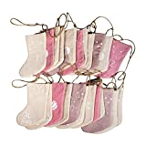 Rayher 46557000 Calendario de Adviento, con 24 calcetines de tela, Color rosa y crema