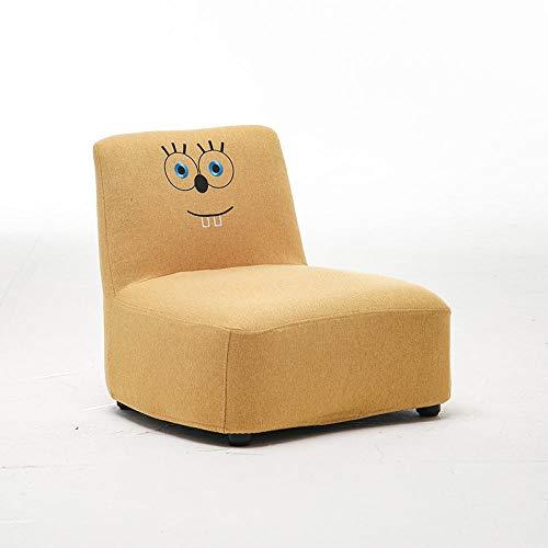 JIAHENGY Kindermöbel Kinder Sessel,Kindersofas, Babymöbel für Jungen und Mädchen, abnehmbare und waschbare Bequeme Kindersitze-Gelb/Schwamm Baby