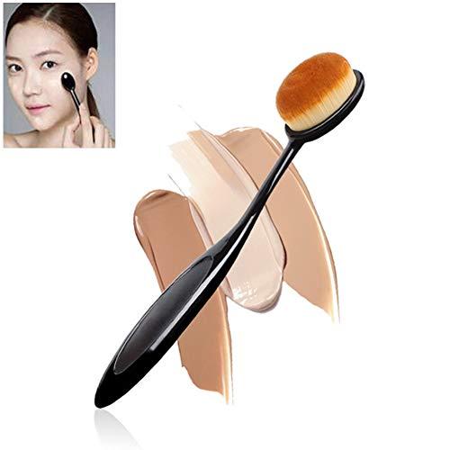 Professionelle Oval Make-Up Pinsel Zahnbürste Foundation Contour Pinsel Conceler BB Creme Blending Bürsten-Kosmetische Bürste-Werkzeug Schwarz