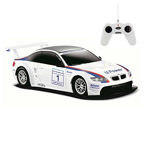 BMW M3 GT2 Motorsport- RC ferngesteuertes Lizenz-Fahrzeug im Original-Design, Modell-Maßstab 1:24, Ready-to-Drive, Auto inkl. Fernsteuerung