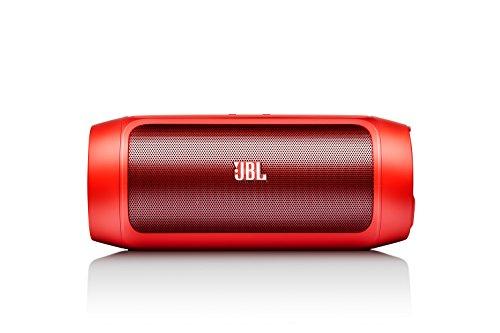 JBL Charge 2 Tragbarer Drahtloser Wireless Bluetooth Stereo-Lautsprecher mit Aufladbarer Batterie, Integrierter Freisprecheinrichtung, 3,5 Stereoeingang und Social Mode Funktion - Extrem kraftvoller Sound und Bass - Kompatibel mit Apple iOS und Android Geräten  - Rot